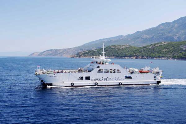 Mare della Croazia - Traghetto Rab